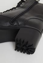 Steve Madden - Bradlie leather combat boot - black