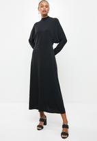 MILLA - Dolman sleeve knit maxi dress - black