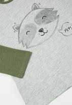 MANGO - Didac raglan tee - grey