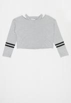 MANGO - Clap long sleeve tee - grey