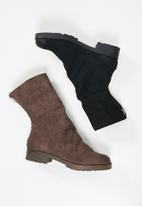 Footwork - Calla slouchy boot - black