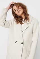 ONLY - Bernadette bonded loose coat - neutral