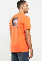 The North Face - Short sleeve redbox tee - orange