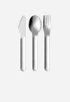 Zoku - Unicorn kids pocket utensils - aqua