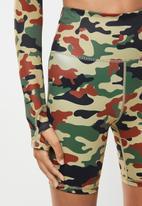 SISSY BOY - Sissyboy sport: camo printed cycling shorts - multi