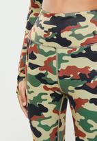 SISSY BOY - Sissyboy sport: camo printed leggings - multi