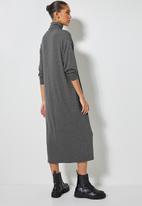 Superbalist - Dropped shoulder poloneck dress - charcoal