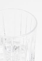 Jenna Clifford - Hand pressed tumbler set of 4 - clear