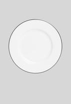 Jenna Clifford - Porcelain side plate black band set of 4 - white