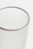 Excellent Housewares - Smokey champagne glass set of 2 - clear