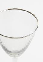 Excellent Housewares - Smokey wine glass set of 2 - clear