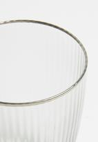 Excellent Housewares - Smokey water glass set of 2 - clear