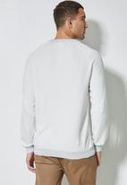 Superbalist - Sporty crew pullover knit jersey - white