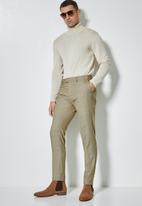 Superbalist - Regent slim fit trouser check - brown