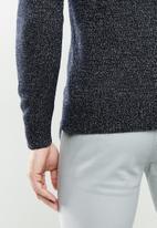 MANGO - Texas Flecked wool  sweater Texas - navy