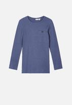 name it - Rasmus slim fit top - blue