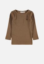 name it - Rasmus slim fit top - brown