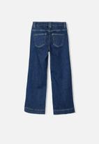 name it - Frandi wide leg jeans - blue