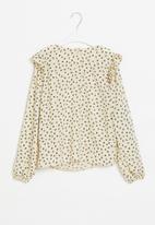 Superbalist Kids - Younger girls frill detail blouse - beige & black