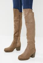 Butterfly Feet - Noel over the knee boot - taupe