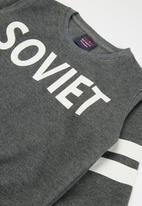 SOVIET - Vista crew neck sweat top - grey