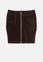name it - Othilde sweat skirt - brown