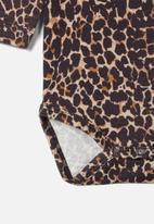 name it - Kala long sleeve babygrow - brown