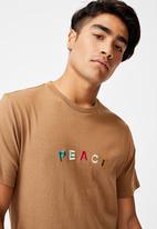 Cotton On - Tbar text T-shirt - beige