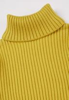 POP CANDY - Girls knitted polo neck - yellow