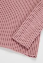POP CANDY - Girls knitted polo neck - mauve