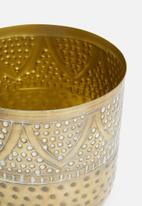 H&S - Rea vase large - gold