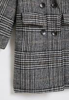 POP CANDY - Girls check coat - grey