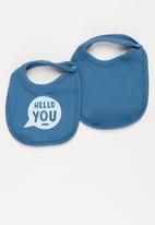 Superbalist Kids - Baby boys 2 pack bibs - blue