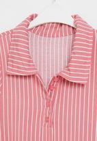 Rebel Republic - Girls shirt dress - dusty pink stripe