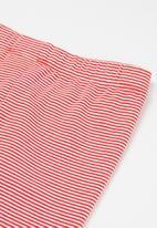 POP CANDY - Girls unicorn stripe legging - red
