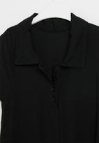 Rebel Republic - Girls shirt dress - black