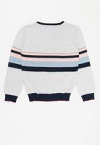 POLO - Girls candice triped pullover - grey