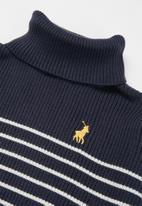POLO - Girls debbie polo neck pullover - navy