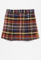 POLO - Girls riley pleated skirt - multi
