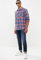 Hurley - Creeper washed long sleeve shirt - blue
