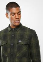 Superdry. - Miller flannel shirt - olive black check