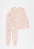 POP CANDY - Girls multi print pj set - pink