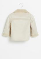 POP CANDY - Girls sherpa coat - stone
