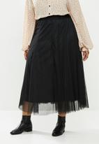 Me&B - Plus layered tulle skirt - black