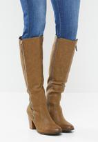 Miss Black - Ahlam 5 knee length boot - tan