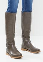Miss Black - Dolinde knee length boot - taupe