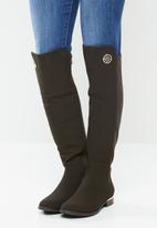 Miss Black - Hadar 3 over the knee boot - choc