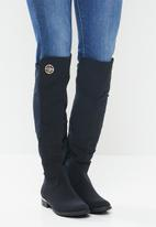 Miss Black - Hadar 3 over the knee boot - navy