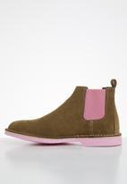 Veldskoen - Chelsea boot - brown & pink