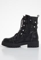 SISSY BOY - Bling the changes grunge boot - black